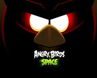 Обои Angry Birds Space глаза Красной птицы 1280x1024