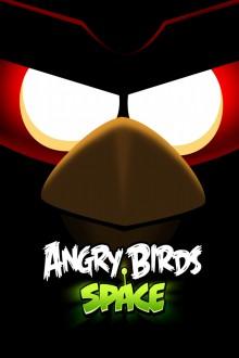 Angry Birds Space Глаза Красной птицы обои для iPhone