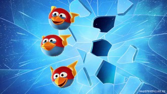 Обои Angry Birds Space Синие 1920x1080 Wallpaper