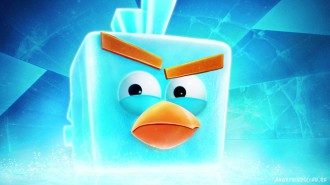 Обои Angry Birds Space Ледяная птица 1920x1080 Wallpaper