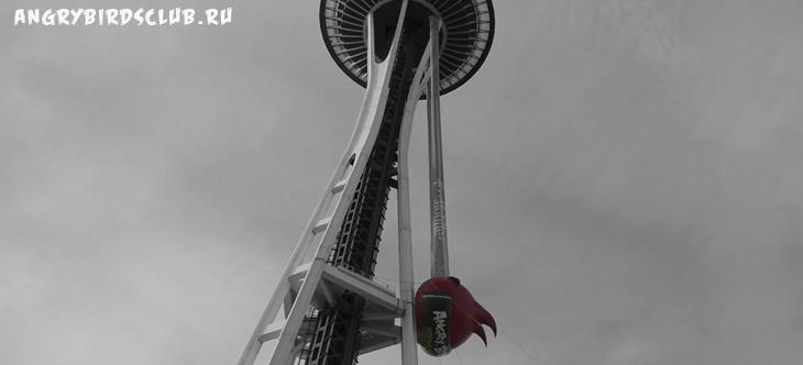 Angry Birds Space - Вылет из Сиэтла