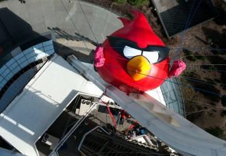 Angry Birds Space в Сиэтле - Красный крупным планом