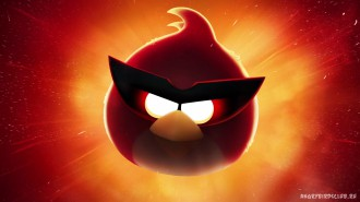 Обои Angry Birds Space Красная птица 1920x1080 Wallpaper