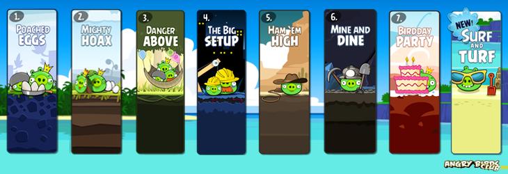 Angry Birds - эпизод из Facebook и новое меню