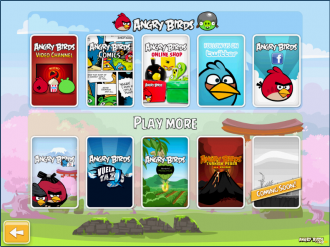 Angry Birds Chrome - Меню Extras