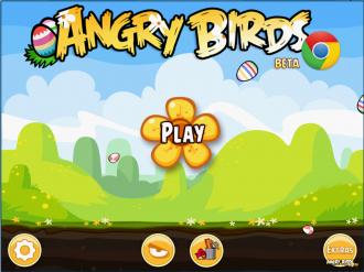 Angry Birds Chrome Пасха - Главное меню
