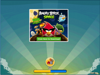Angry Birds Chrome - Реклама в игре