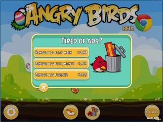 Angry Birds Chrome - Платное отключение рекламы