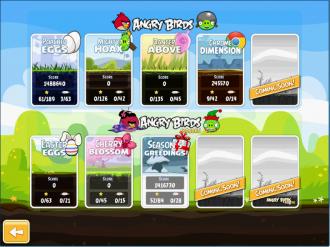 Angry Birds Chrome Пасха - Выбор эпизода