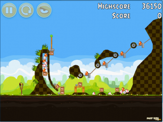 Angry Birds Chrome Пасхальные Яйца - Бонусный Уровень 1