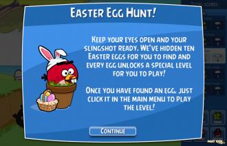 Angry Birds Facebook - Пасхальные Яйца: О поиске яиц