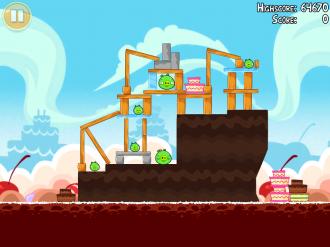 Angry Birds Free: Локация VIII - Уровень 1