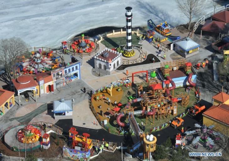 Общий вид парка Angry Birds Land