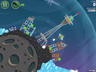Angry Birds Space Fry Me to the Moon Уровень 3-10