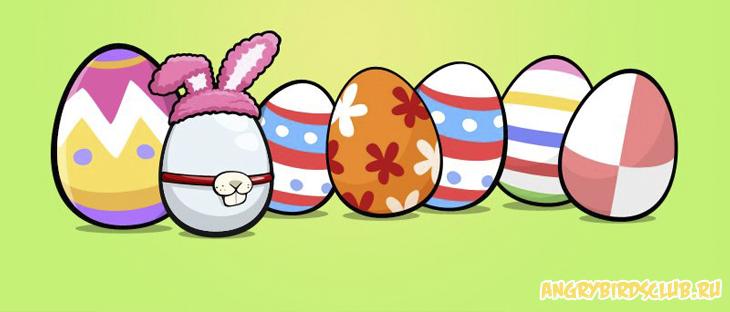 Пасхальные Facebook-карточки Angry Birds Easter