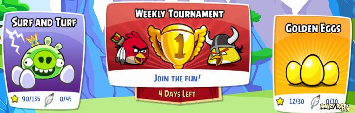 Новый турнир Angry Birds Facebook в Facebook