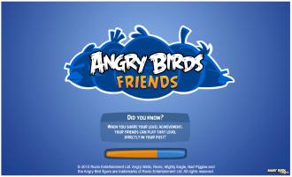 Angry Birds Friends - Экран загрузки