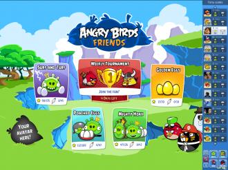 Angry Birds Friends - Новое меню