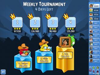 Angry Birds Friends - Турнирная таблица