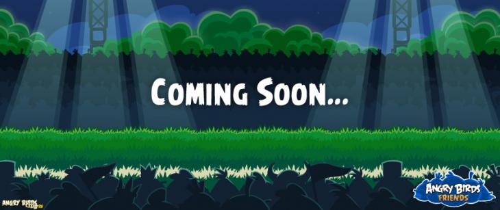 Анонс Angry Birds Friends в Angry Birds Facebook