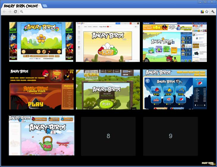 Онлайн версии Angry Birds
