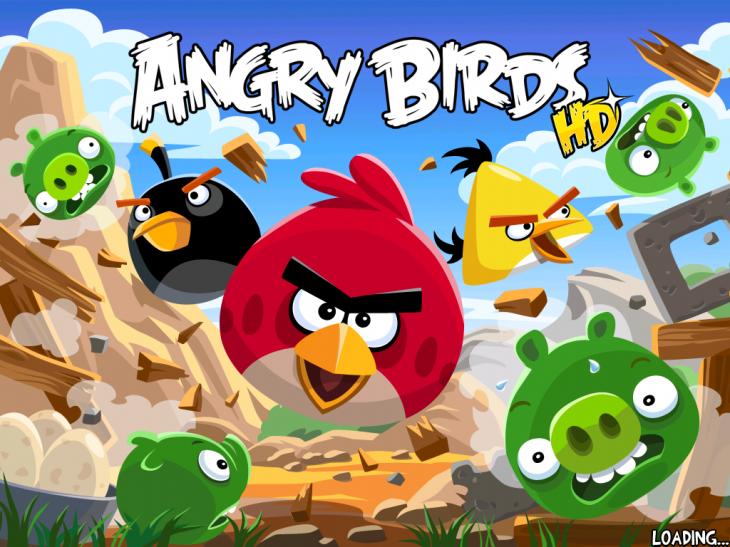 Экран загрузки оригинальной Angry Birds