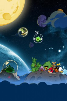 Angry Birds Space обои для iPhone от Sal