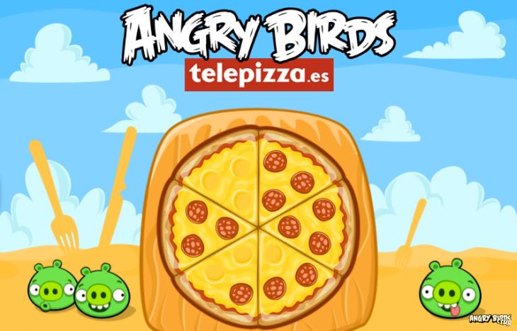 Новая онлайн мини-игра Angry Birds Telepizza
