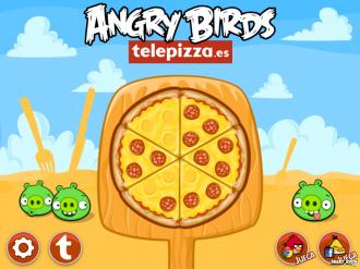 Angry Birds Telepizza - Главное меню