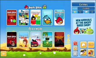 Angry Birds Chrome v2.0.0.18 Меню Extras