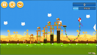 Angry Birds Chrome v2.0.0.18 Уровень 1