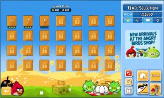 Angry Birds Chrome v2.0.0.18 Выбор уровня