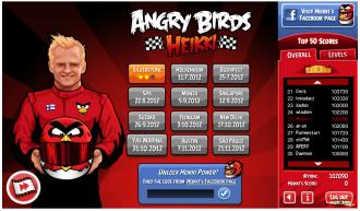 Angry Birds Heikki - Главное меню