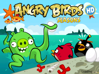 Angry Birds Seasons: Piglantis - Экран загрузки