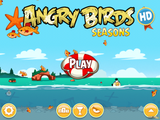 Angry Birds Seasons: Piglantis - Главное меню
