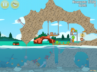 Angry Birds Seasons: Piglantis - Уровень 1-1