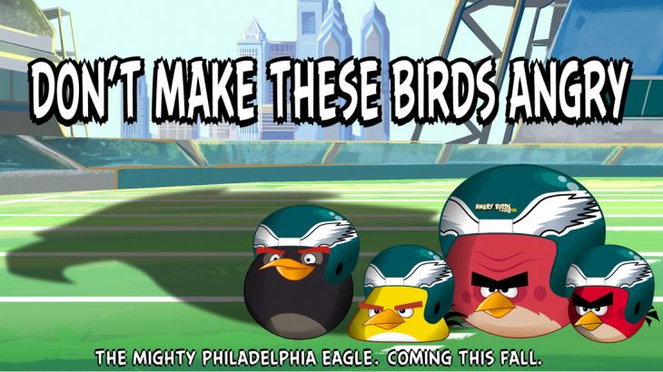 Angry Birds и Philadelphia Eagles - Не злите птиц!