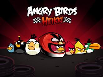 Angry Birds Heikki стая обои 1024x768