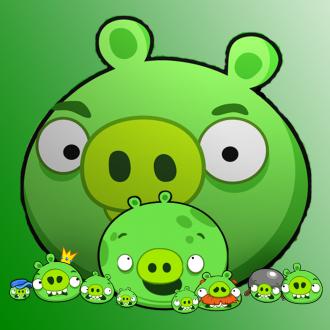 Обои Angry Birds Wallpaper для iPad от Mr.Green - Могучий Кабан