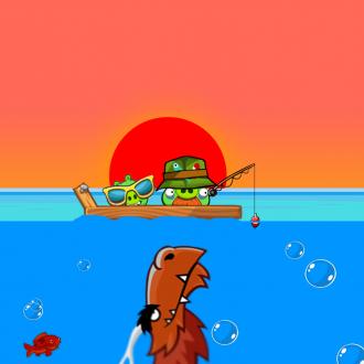 Обои Angry Birds Wallpaper для iPad от Mr.Green - Драконьи челюсти