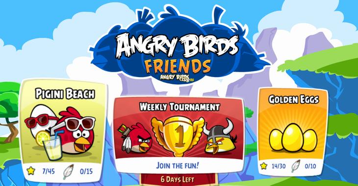 Вышел новый эпизод Angry Birds Friends -- Pigini Beach