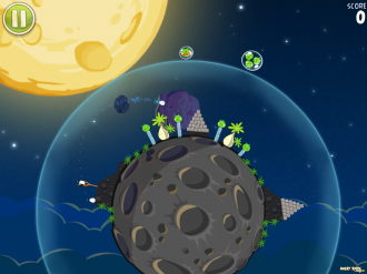 Angry Birds Space - Бонусный Уровень S-1