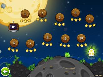 Angry Birds Space - Выбор Уровней - Бонусный Уровень