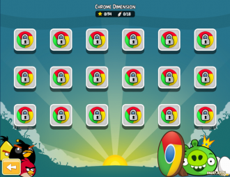 Angry Birds Chrome с The Big Setup - Уровни Dimension