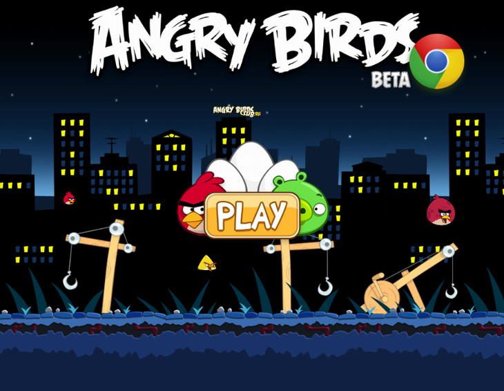Angry Birds Chrome с The Big Setup - главное меню