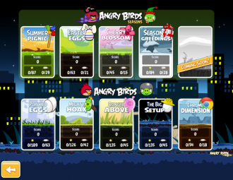 Angry Birds Chrome с The Big Setup - Выбор эпизода