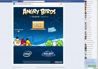 Реклама игры в аккаунте Intel