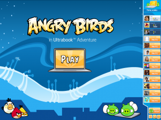 Angry Birds in Ultrabook Adventure - Главное Меню