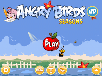 Angry Birds Seasons - Back to School: Главное меню