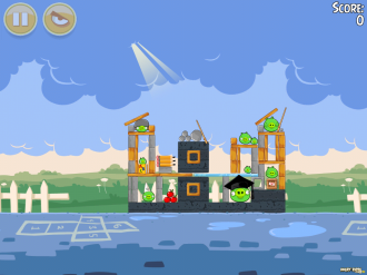 Angry Birds Seasons - Back to School: Уровень 20